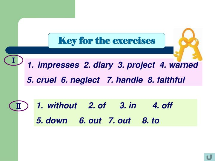 Key for the exercises