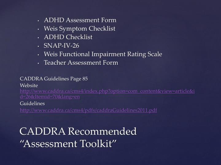 ADHD Assessment Form