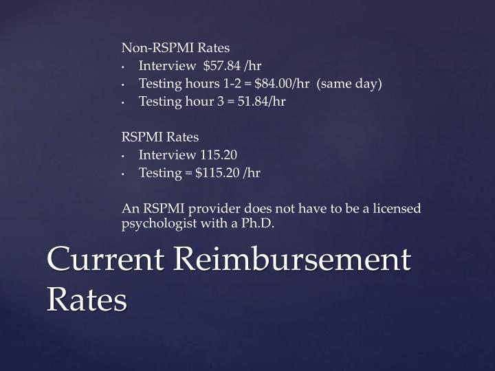 Non-RSPMI Rates