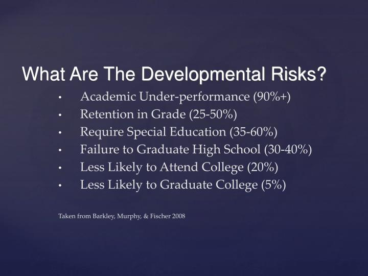 Academic Under-performance (90%+)