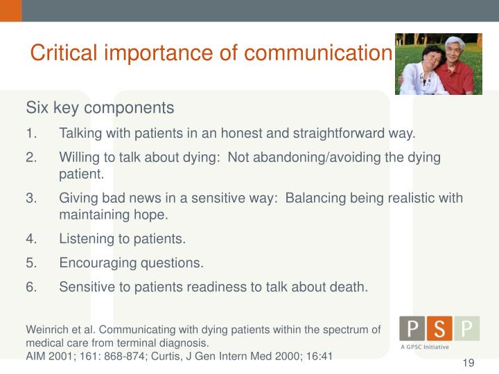 Critical importance of communication
