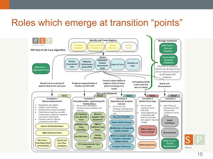 "Roles which emerge at transition ""points"""