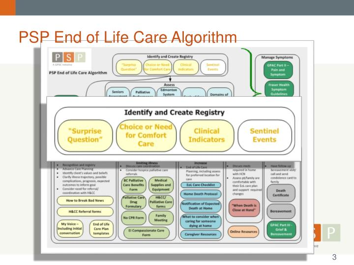 PSP End of Life Care Algorithm