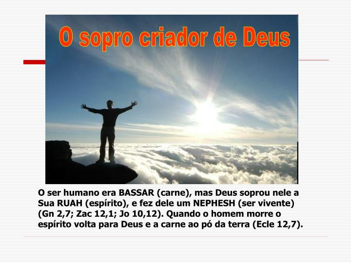 O sopro criador de Deus