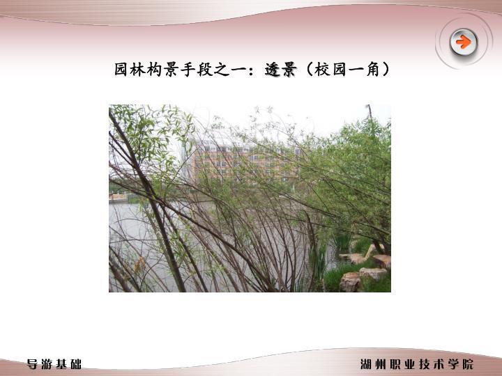 园林构景手段之一: