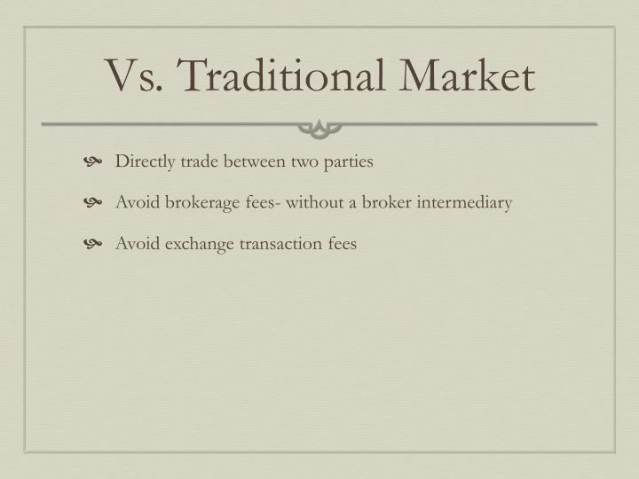Vs. Traditional Market