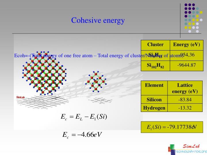 Cohesive energy