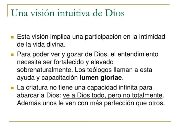 Una visión intuitiva de Dios