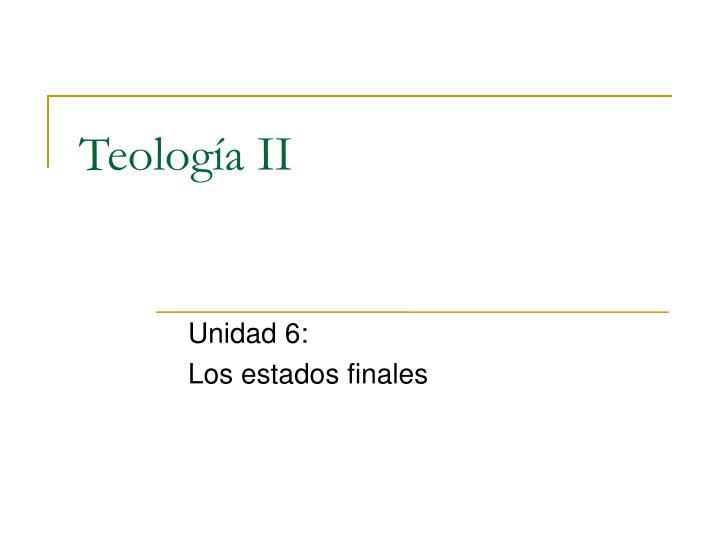 Unidad 6: