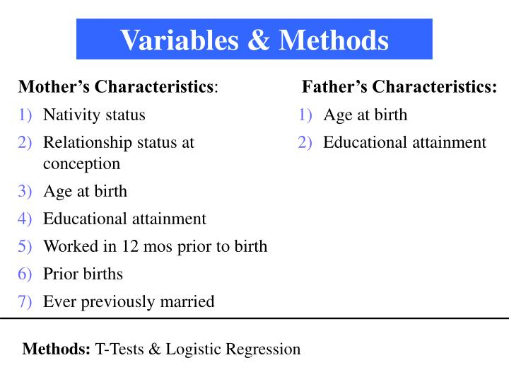 Variables & Methods