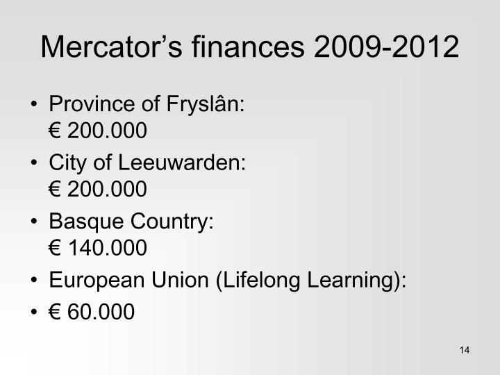 Mercator's finances 2009-2012