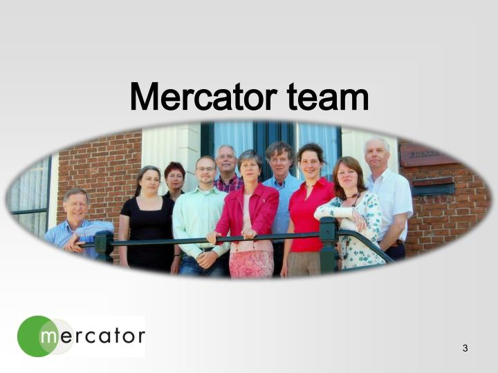 Mercator team