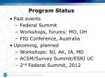 program status4