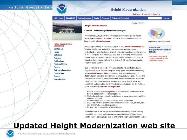 Updated Height Modernization web site