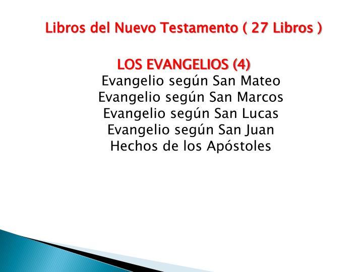 Libros del Nuevo Testamento ( 27 Libros