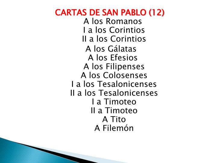 CARTAS DE SAN PABLO (
