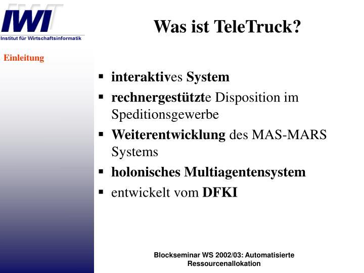 Was ist TeleTruck?