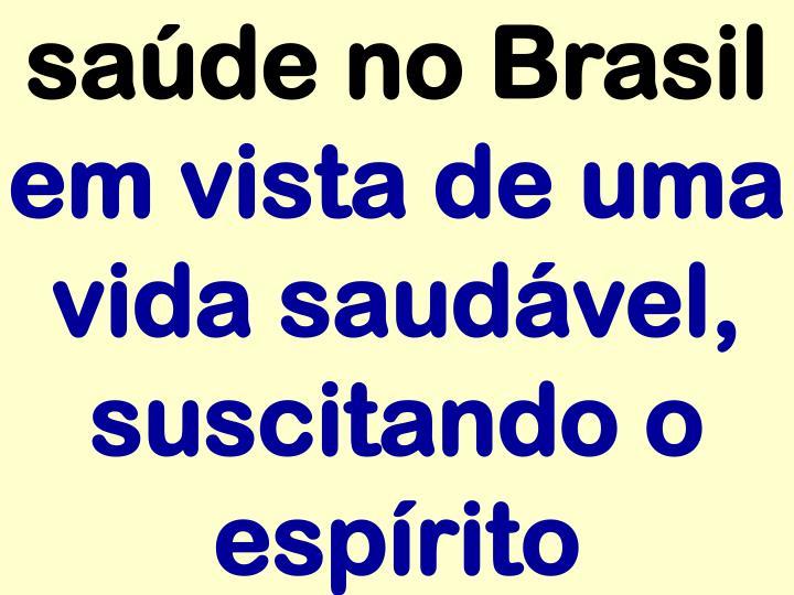 saúde no Brasil