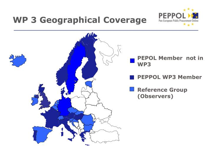 WP 3 Geographical Coverage