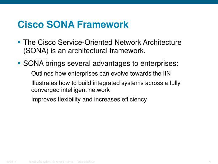 Cisco SONA Framework