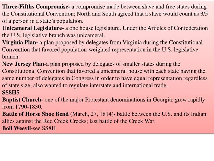 Three-Fifths Compromise-