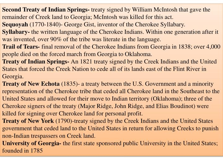 Second Treaty of Indian Springs-