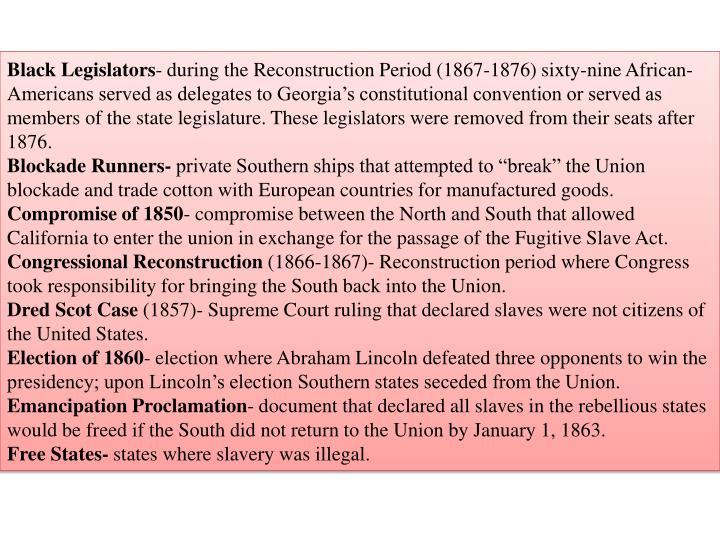 Black Legislators