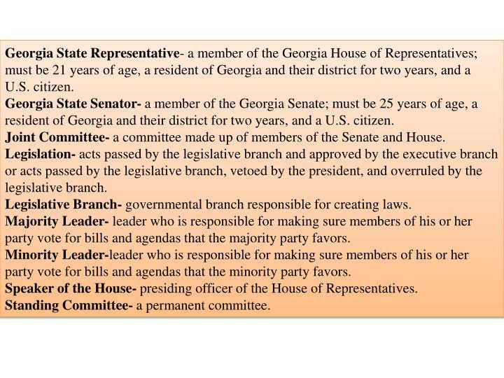 Georgia State Representative