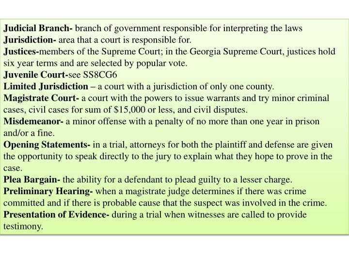 Judicial Branch-