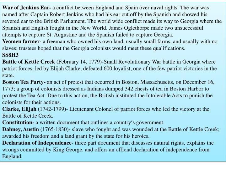 War of Jenkins Ear-