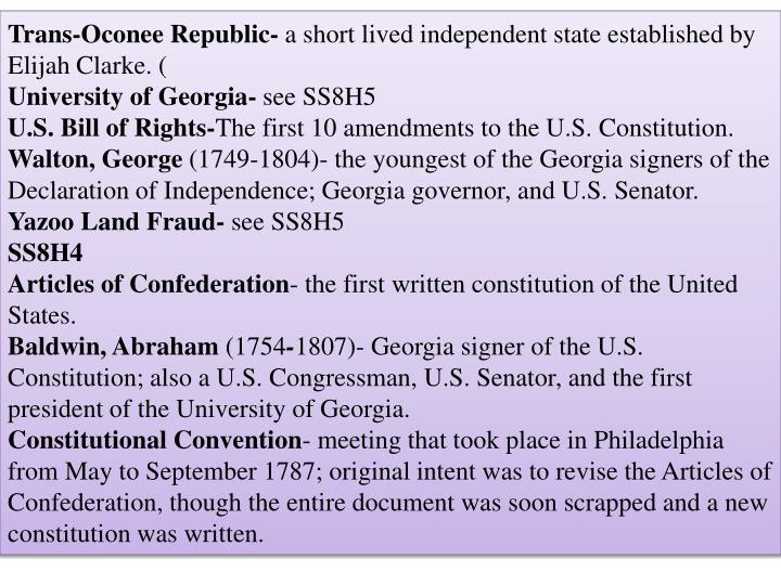 Trans-Oconee Republic-