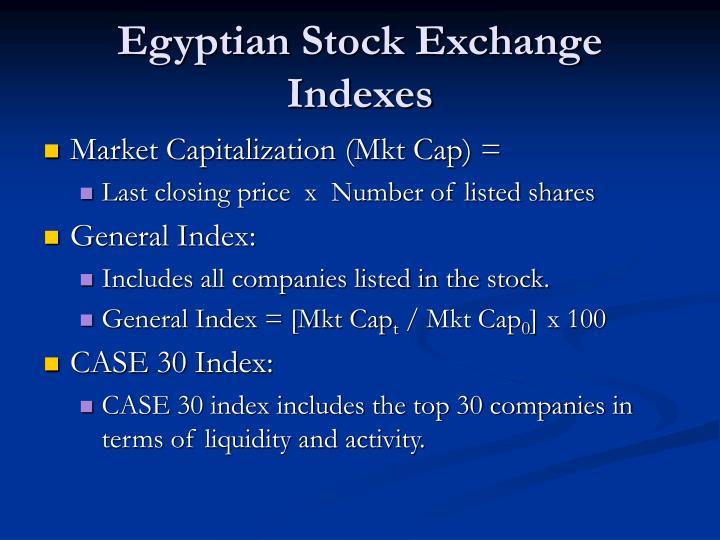 Egyptian Stock Exchange Indexes