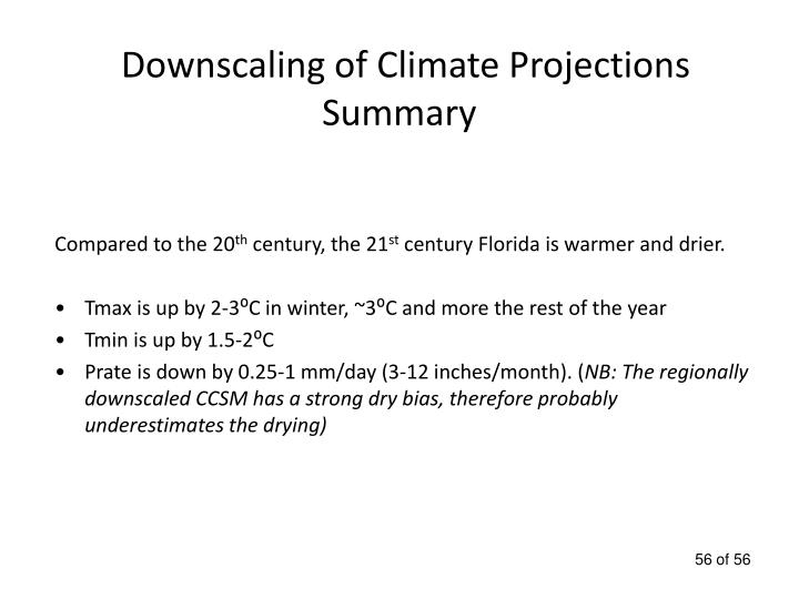 Downscaling of Climate Projections