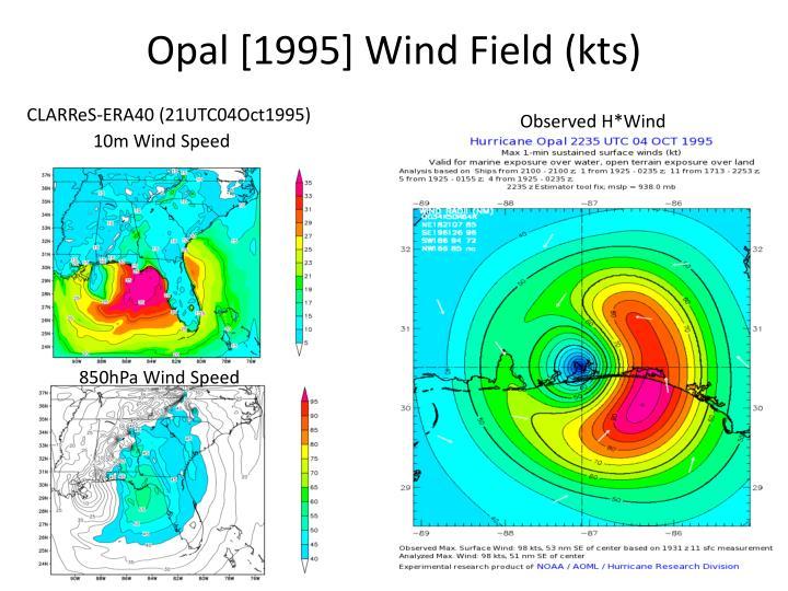 Opal [1995] Wind Field (kts)