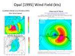 opal 1995 wind field kts
