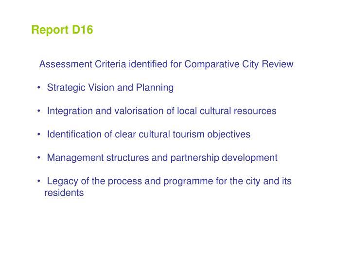 Report D16