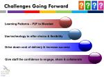 challenges going forward