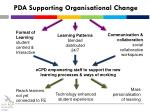 pda supporting organisational change