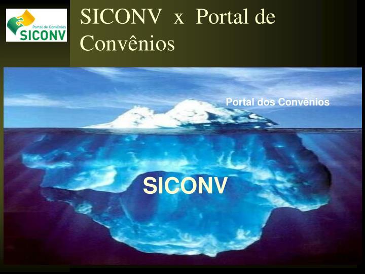 SICONV  x  Portal de Convênios