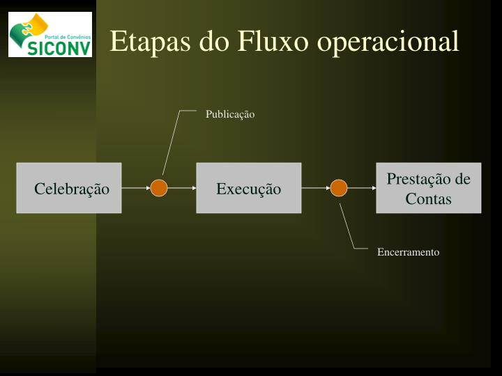 Etapas do Fluxo operacional