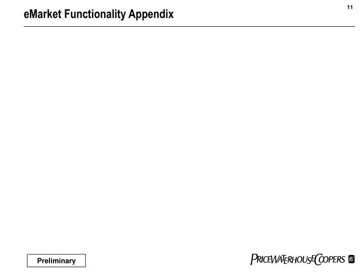 eMarket Functionality Appendix