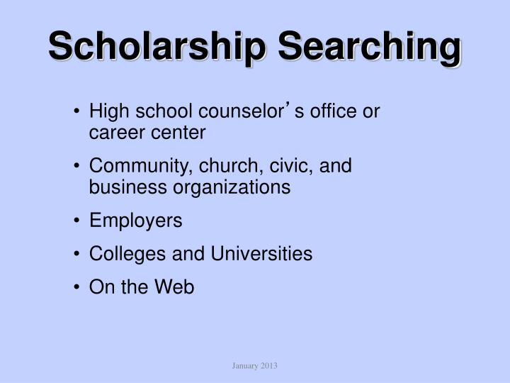 Scholarship Searching