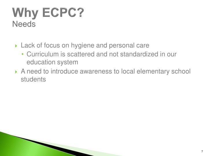 Why ECPC?