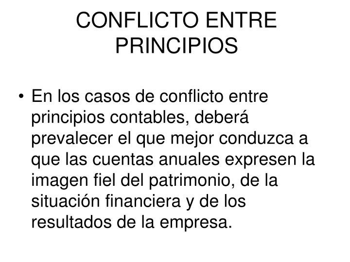 CONFLICTO ENTRE PRINCIPIOS