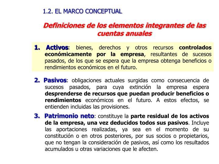 1.2. EL MARCO CONCEPTUAL