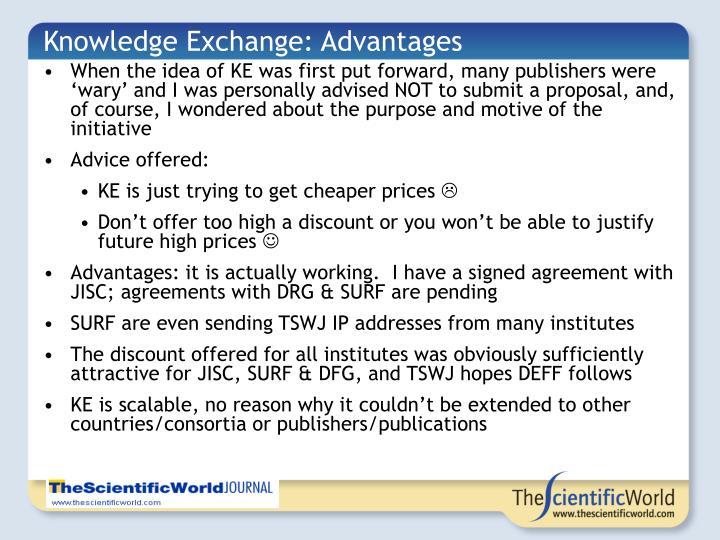Knowledge Exchange: Advantages