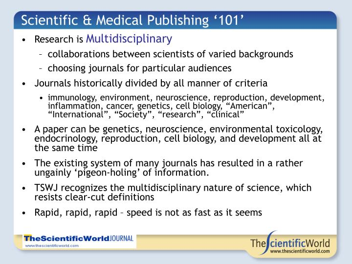Scientific & Medical Publishing '101'