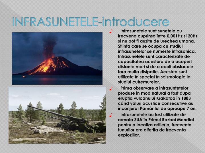 INFRASUNETELE-