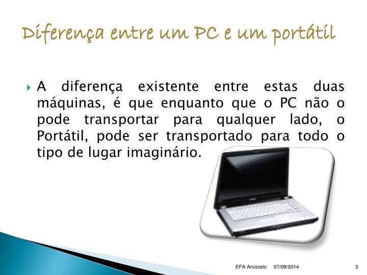 Diferença entre um PC e um portátil