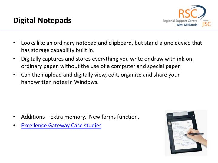 Digital Notepads